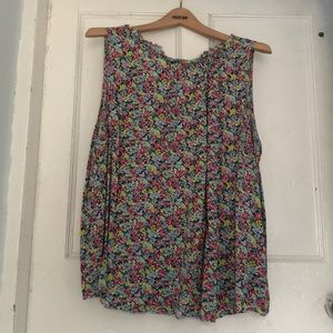 Gap blouse, pastel floral